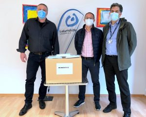 Momentive spendet Lebenshilfe 500 Mund- Nasenschutzmasken